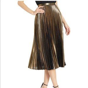 🆕Lauren by Ralph Lauren Pleated Metallic Skirt